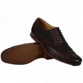 Kingston Textile Leather Brown Shoe