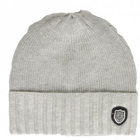 676818c33621f Manta Ribbed Cotton Grey Beanie Hat · 883 Police ...