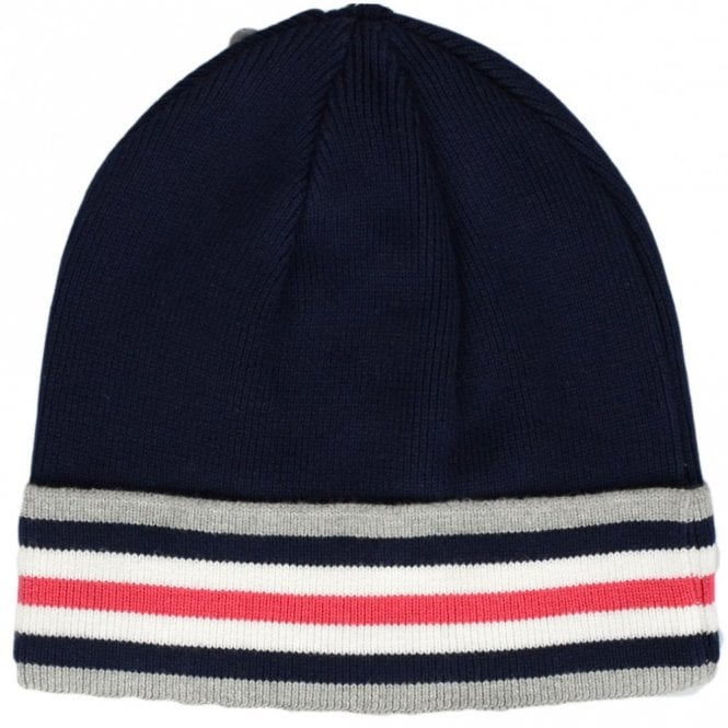 883 Police Teter Ribbed Stripe Cotton Navy Beanie Hat - Accessories ... eab0faab41c