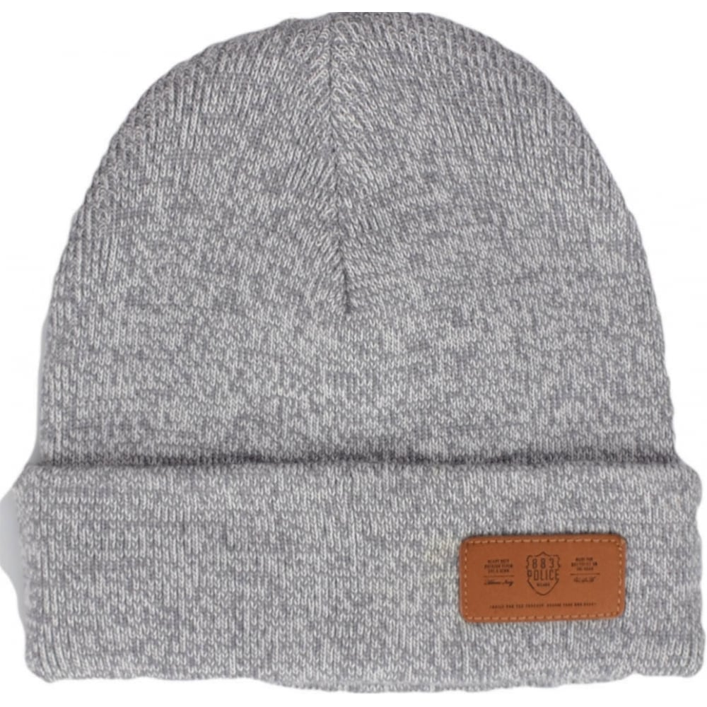 aa8ee38758797 883 Police Troy Cotton Folded Grey Beanie Hat - Accessories from N22 ...