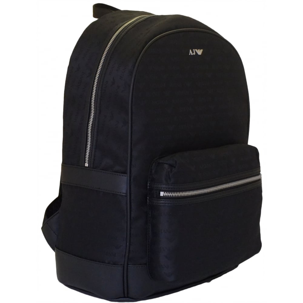 Armani Jeans 0622L V8 AJ Branded Black Backpack - Accessories from ... 496d6e602ffde