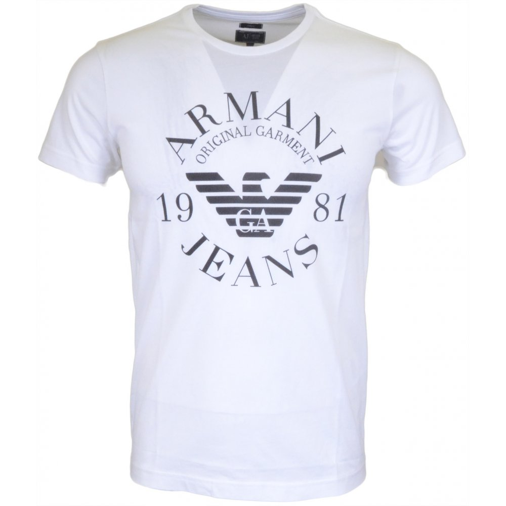6060804a Armani Jeans 06H99 Slim Fit White T-Shirt - Clothing from N22 ...