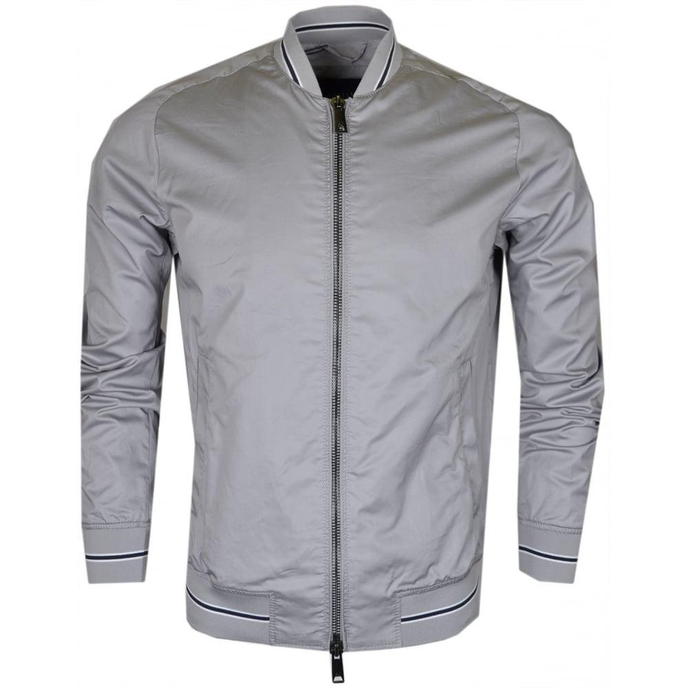 3be9f1acc3 Armani Jeans 3Y6B15 Tipped Slim Lightweight Grey Jacket