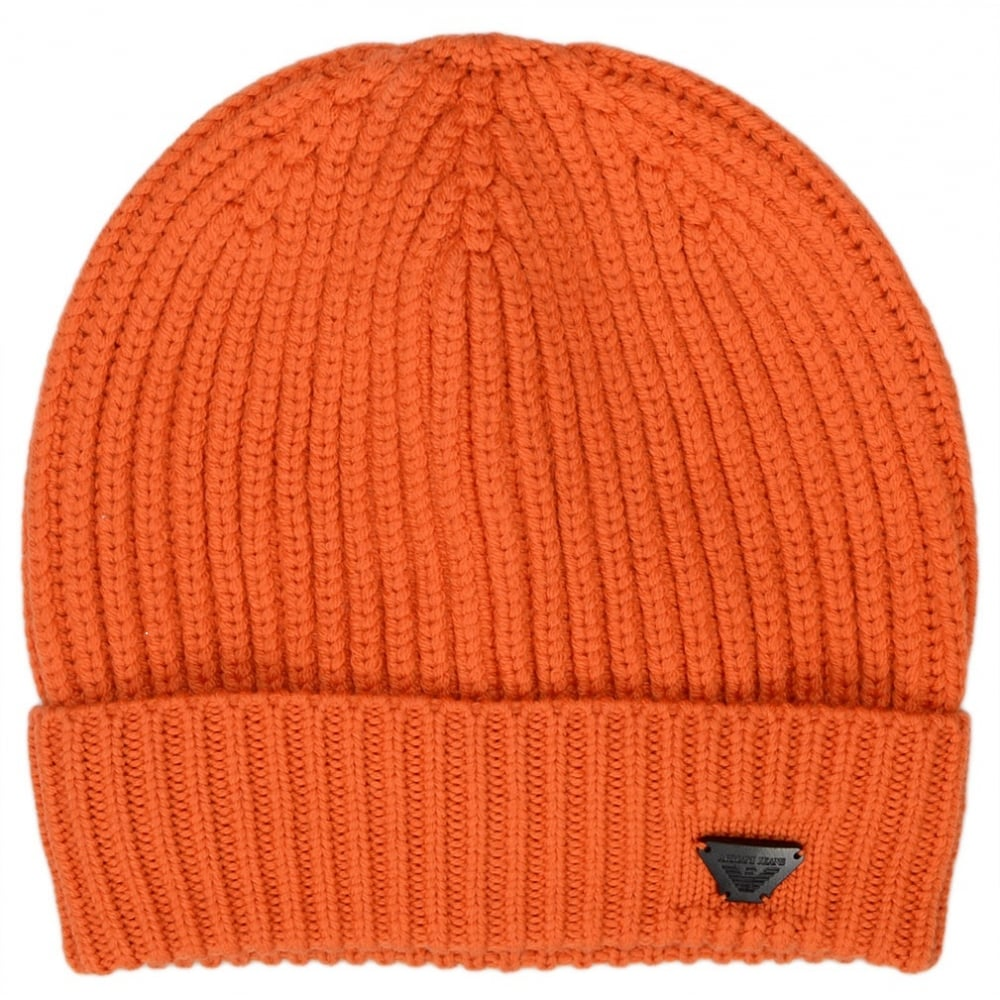 94b61bd4 Armani Jeans 934029 7A757 Wool Orange Beanie Hat - Accessories from ...