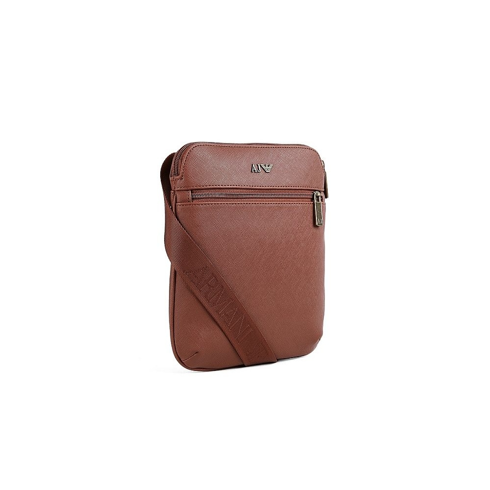 7c8cf8a8ea0e Armani Jeans A6287 U8 Metal Logo PU Brown Bag - Accessories from N22 ...
