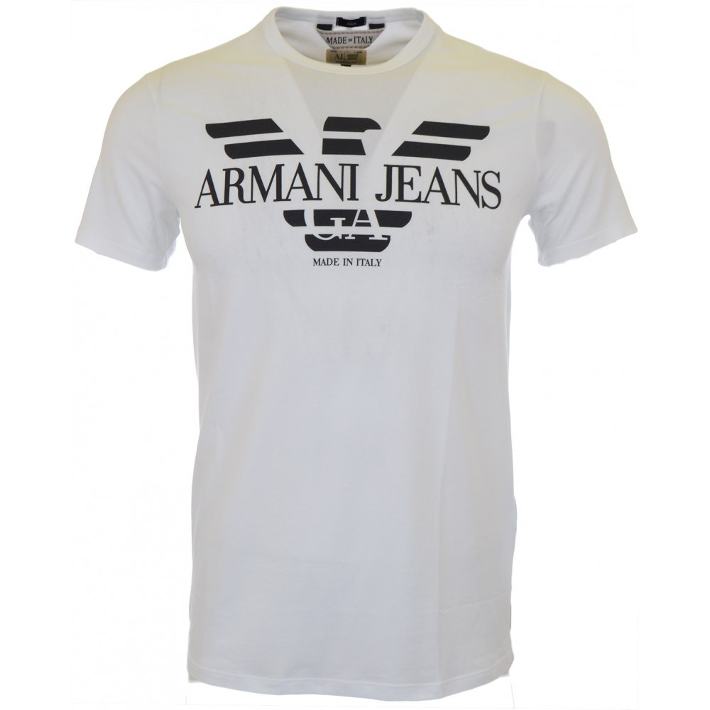 a85f088d Armani Jeans A6H06 Stretch Slim Fit White T-Shirt - Clothing from ...
