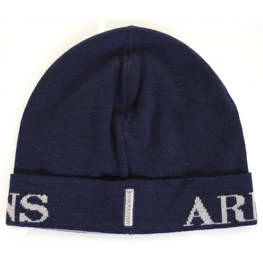 Armani Jeans U6404 Navy Beanie Hat - Accessories from N22 Menswear UK 08a3c7976dd