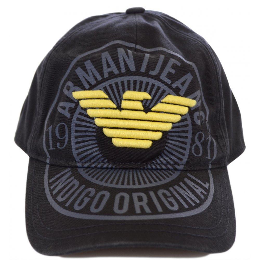 f76348b790955 Armani Jeans V6406 Black Baseball Cap - Accessories from N22 Menswear UK
