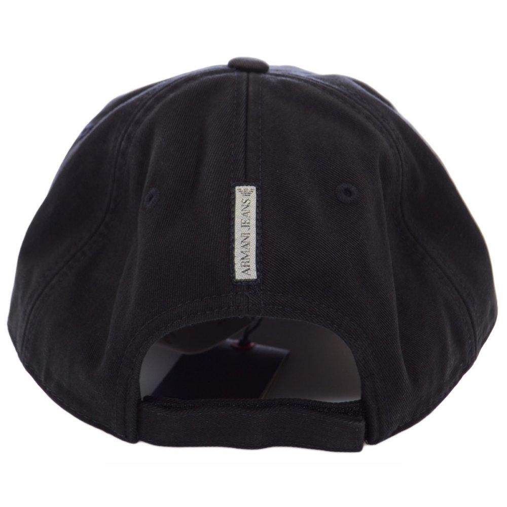 6854377a34940 Armani Jeans V6406 Black Baseball Cap - Accessories from N22 Menswear UK