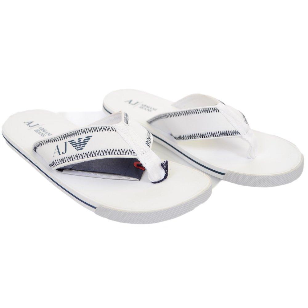 06488861d840 Armani Jeans V6544 White Sandals - Footwear from N22 Menswear UK