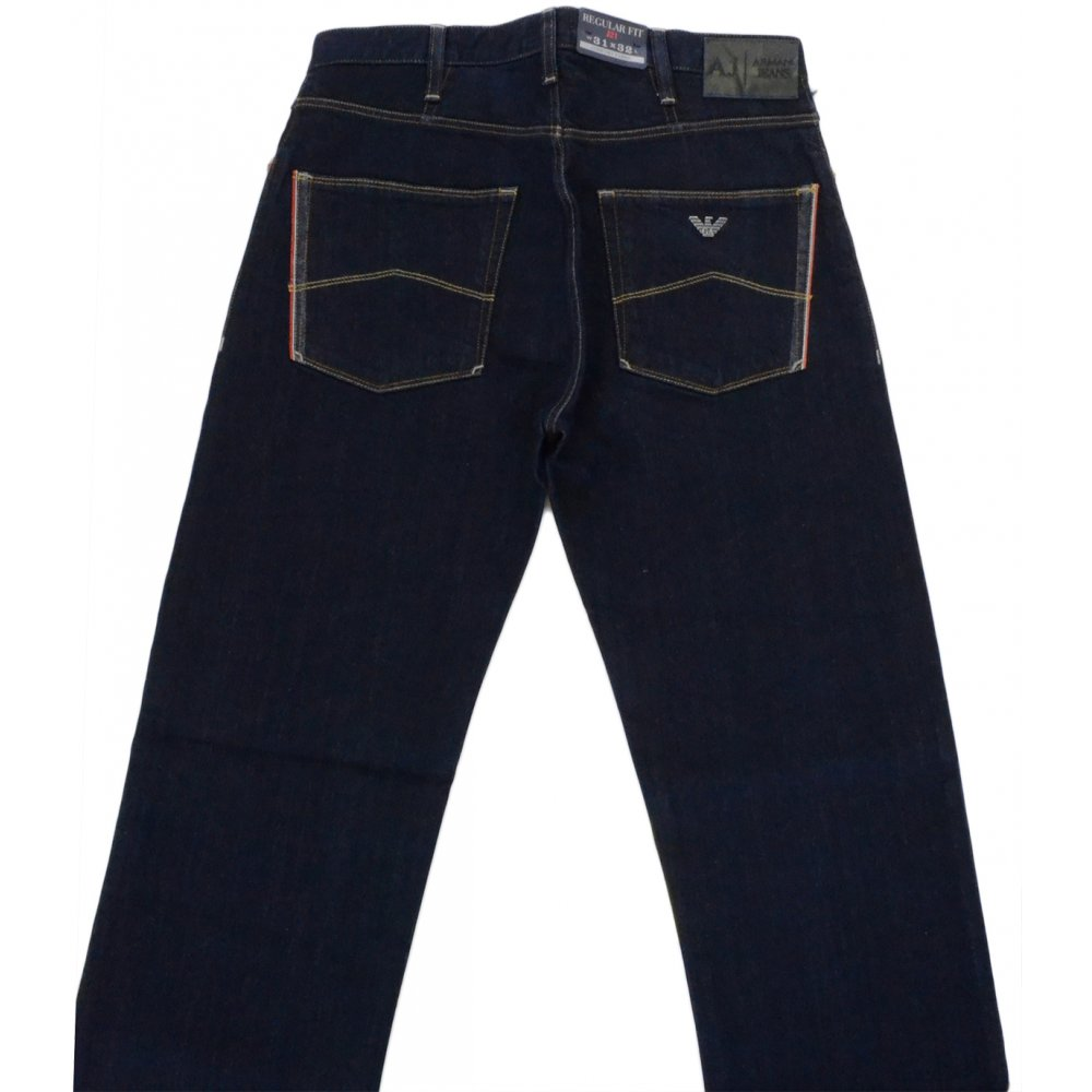 1047140769df Armani Jeans Z6J81 Regular Fit J21 Dark Blue Jeans - Clothing from ...