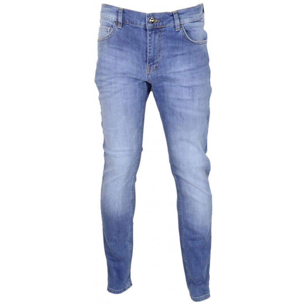 Cavalli Class Trouble Stone Wash Slim Fit Stretch Indigo Blue Jeans