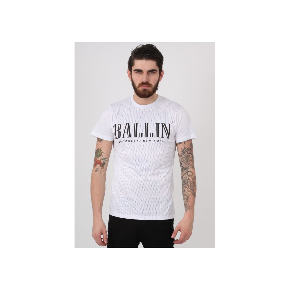 478037b2a4d Criminal Damage Ballin Mesh Perforated White T-Shirt - Clothing from ...