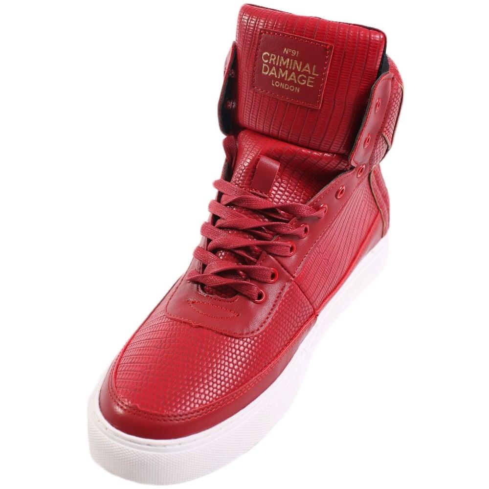 Criminal Damage Catana Sneakers Red