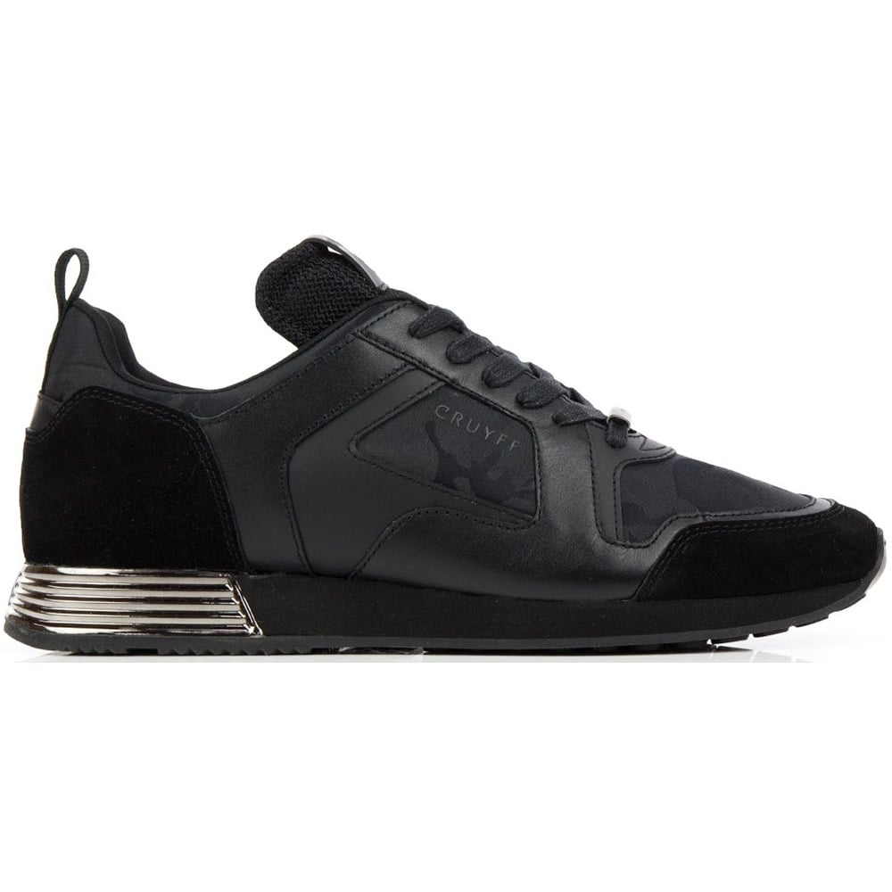 401a0487213 Cruyff Classics Lusso Lace Up Black Runner Trainer - Footwear from ...