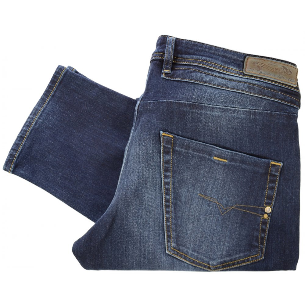 2833eeea Diesel Belther 0814W Regular Slim-Tapered Jeans - Clothing from N22 ...