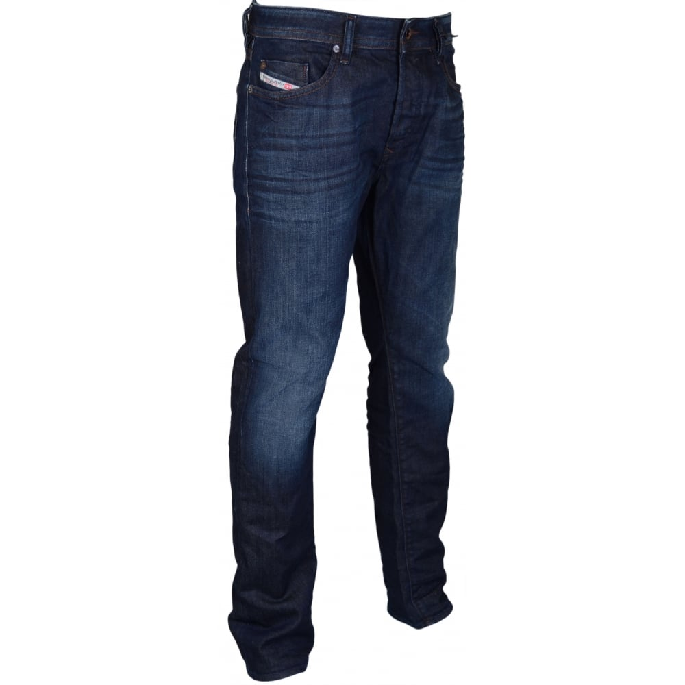 a93e6a8f Diesel Buster 0845G Regular Slim-Tapered Stretch Dark Jeans ...