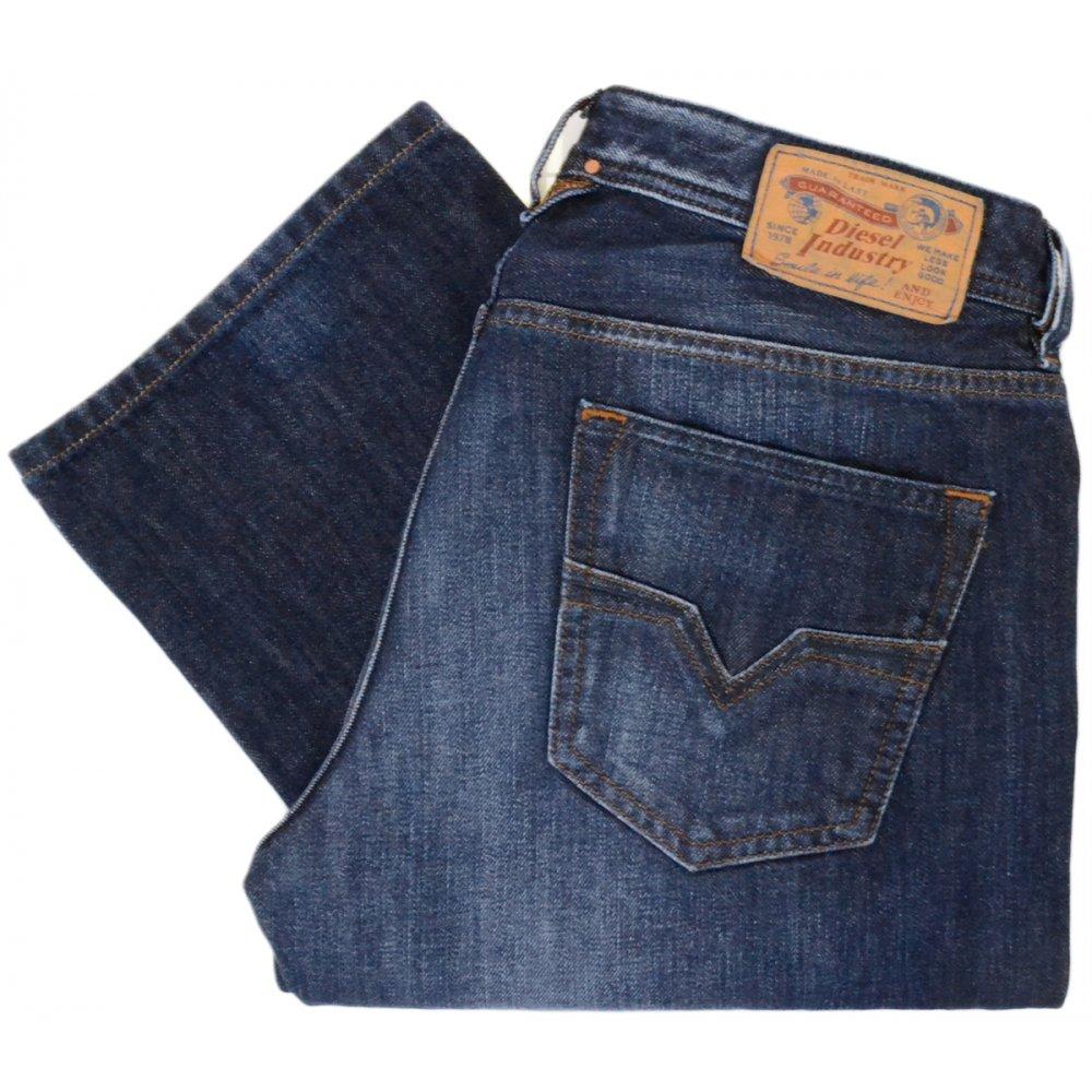 89680463 Diesel Larkee 0823G Regular-Straight Dark Blue Jeans - Clothing from ...