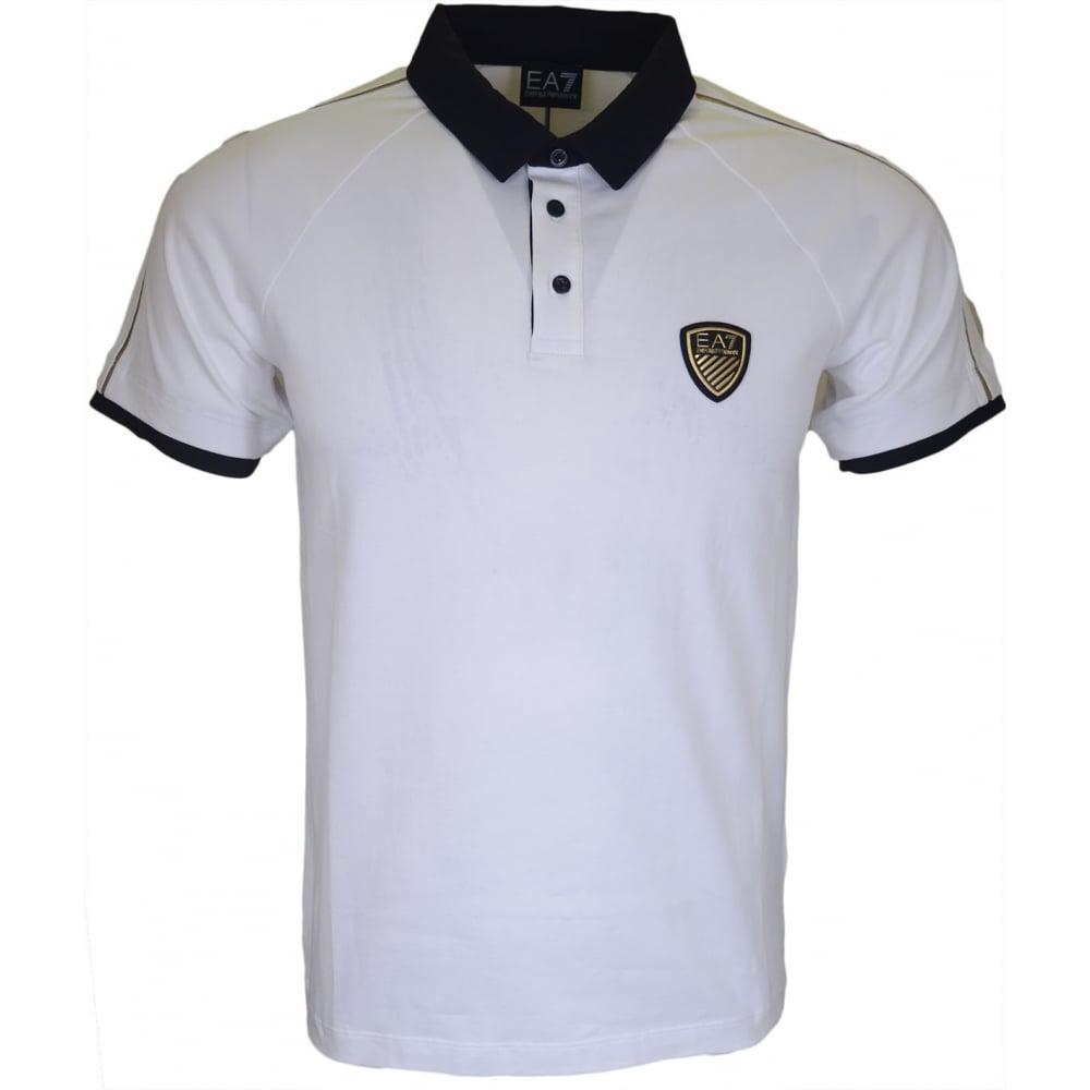 6aba70ba6 EA7 by Emporio Armani 273889 Train Soccer White Polo Shirt ...