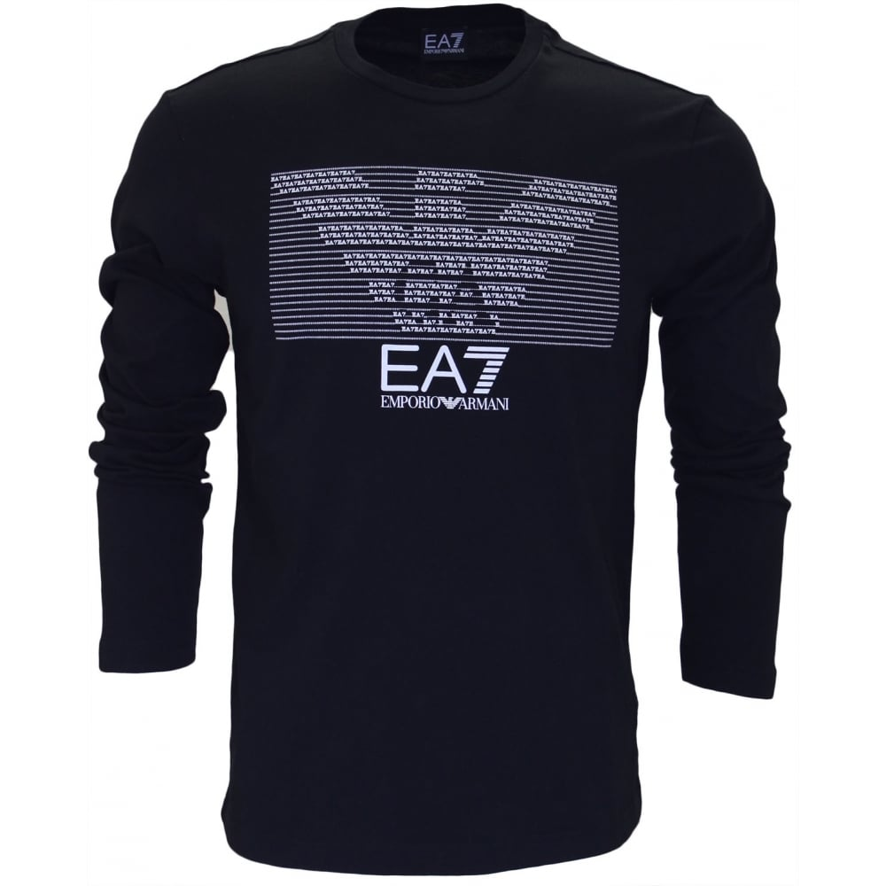 515e815d4e84 ... EA7 by Emporio Armani 273918 Train Graphic Long Sleeve Black T-Shirt.  Tap image to zoom. 273918 Train Graphic Long Sleeve Black T-Shirt