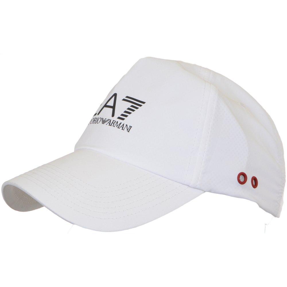 fd17131d7c9 EA7 by Emporio Armani 275365 Adjustable White Baseball Cap ...