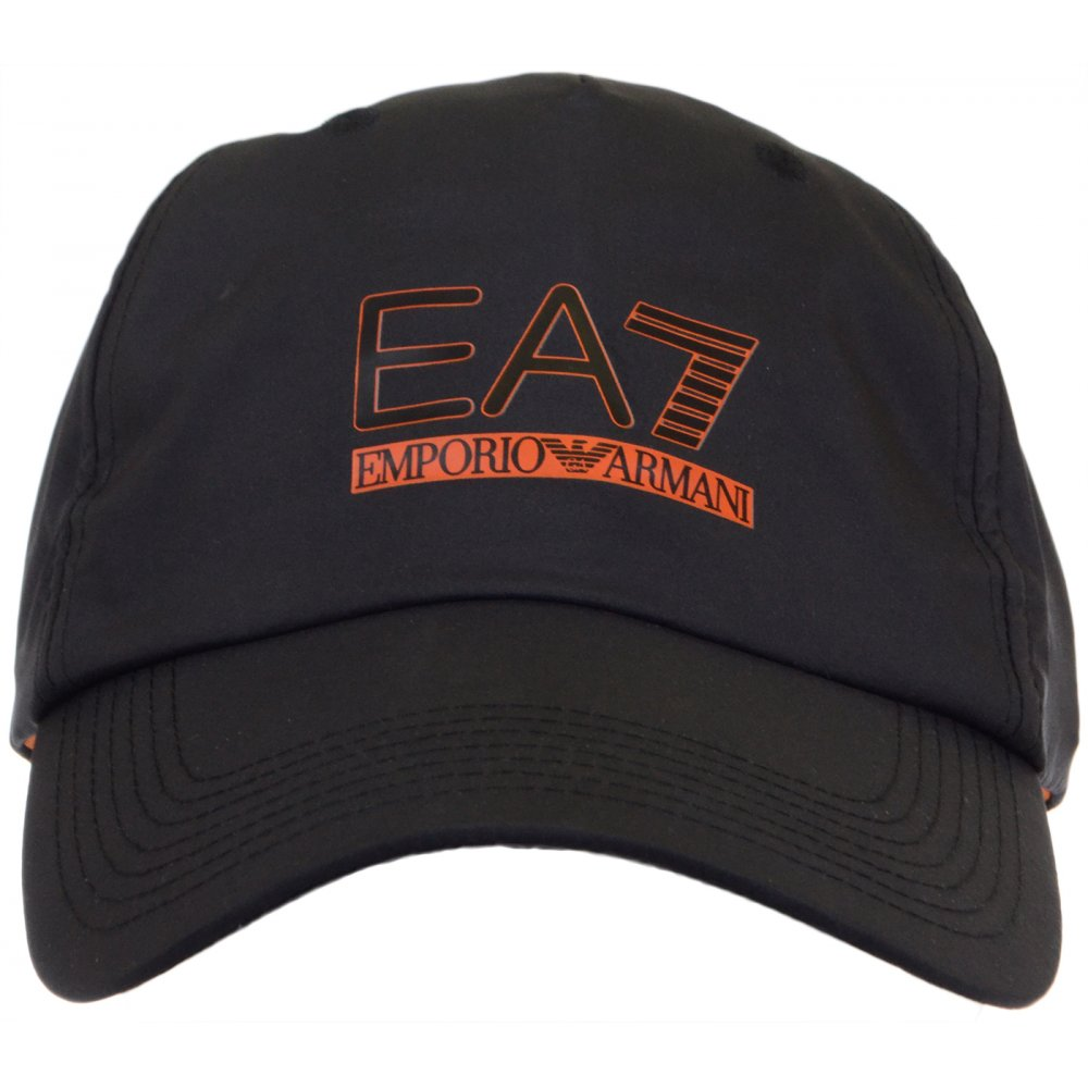 EA7 by Emporio Armani 275366 Adjustable Black Baseball Cap ... 2c673934bb0