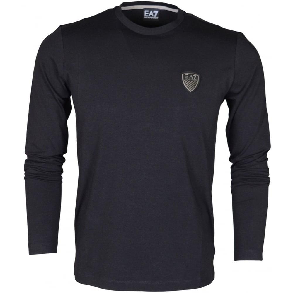 80b15db46 EA7 by Emporio Armani 6XPT83 Train Soccer Full Sleeve Black T-Shirt ...