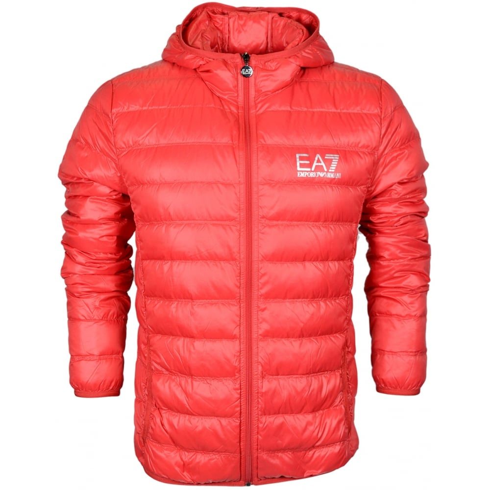 1f0fa360e EA7 by Emporio Armani 8NPB02 Ultra-Light Down Racing Red Jacket ...