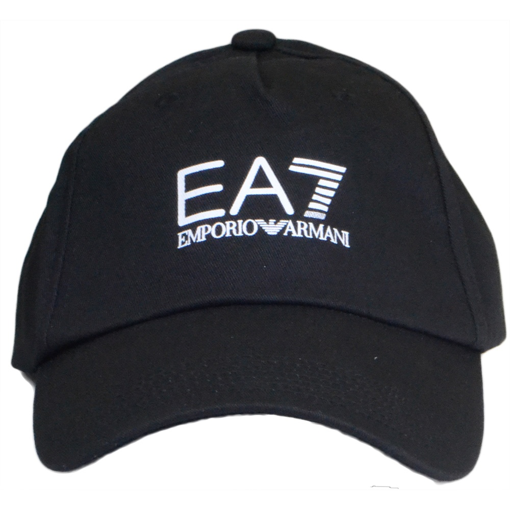 a0db86fe64d EA7 by Emporio Armani Adjustable Black Baseball Cap - Accessories ...