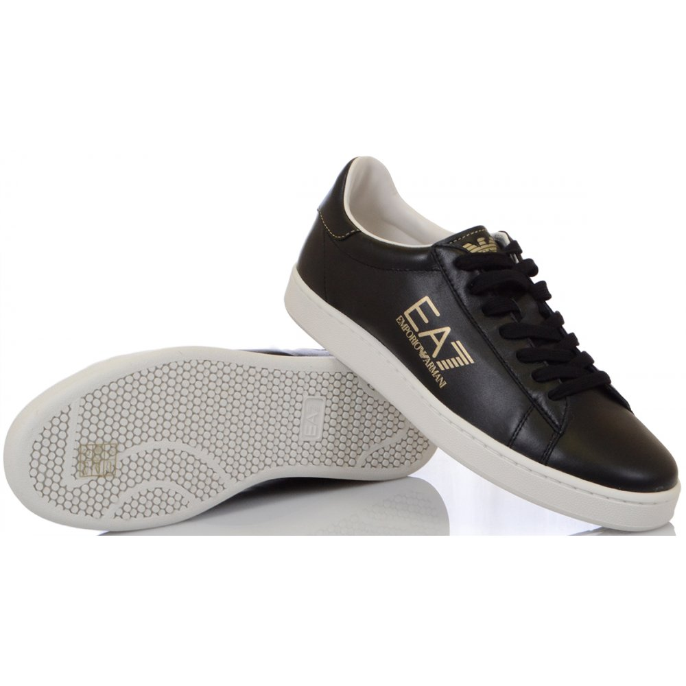 EA7 by Emporio Armani Classic Leather Black Trainer - Footwear from ... a9f64355a0cc2