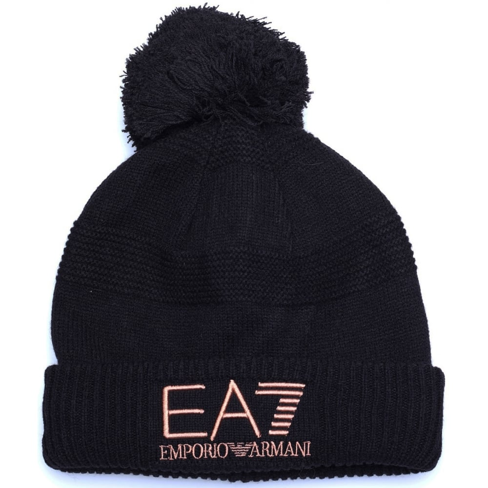EA7 by Emporio Armani Mount Urban Black Beanie Hat - Accessories ... d948787b777