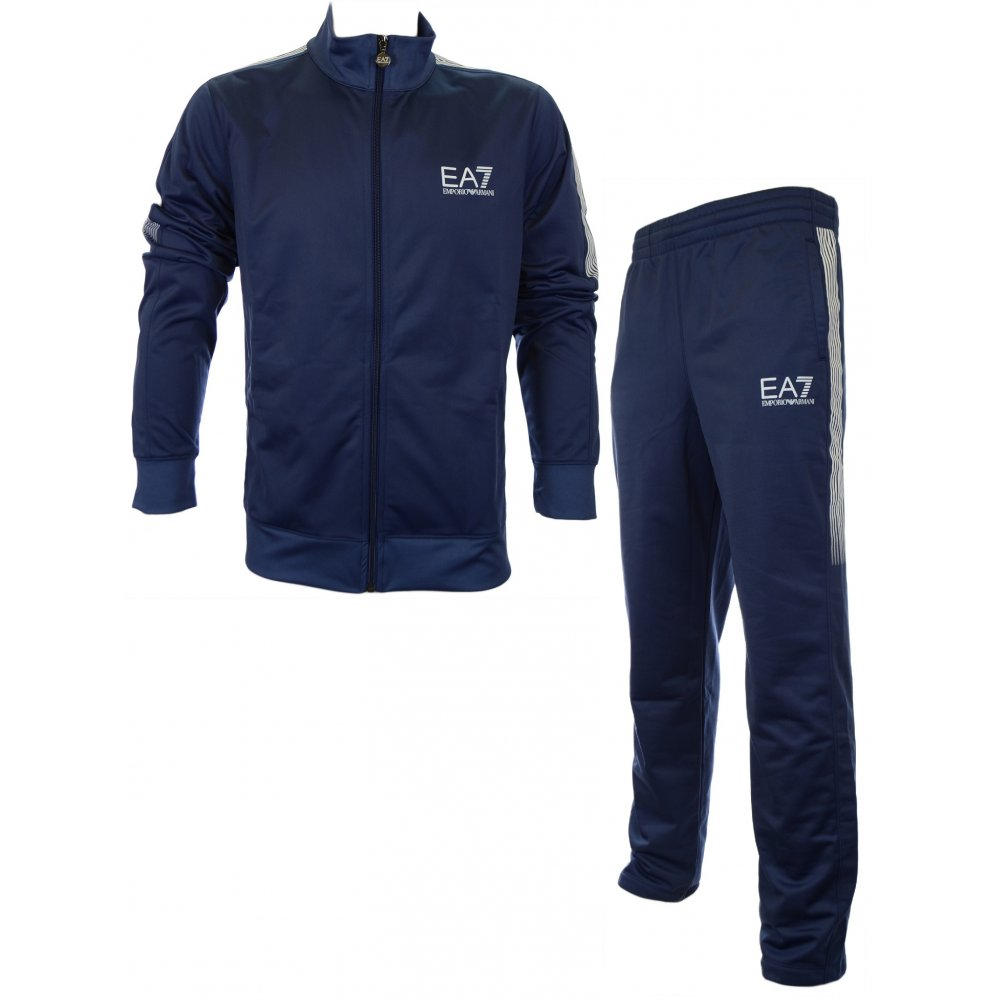 e9f992c17 EA7 by Emporio Armani Train Core 7 Lines Blue Tracksuits - Clothing ...