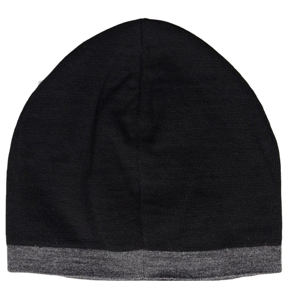 EA7 by Emporio Armani Train Visibility Printed Black Beanie Hat ... fa4623cfb1f3