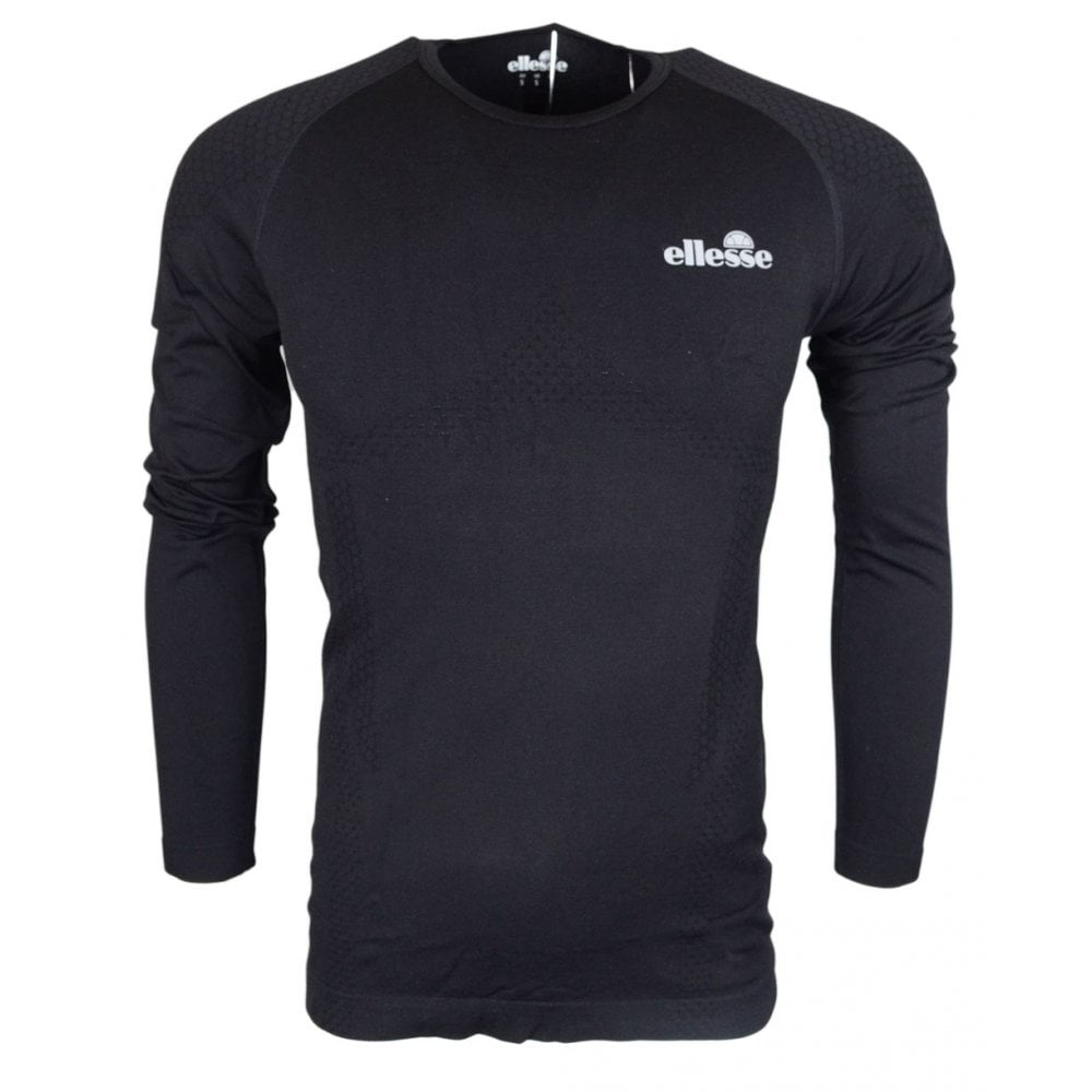 3b48e71c1d Ellesse Norto Long Sleeve Black Polyamide T-Shirt