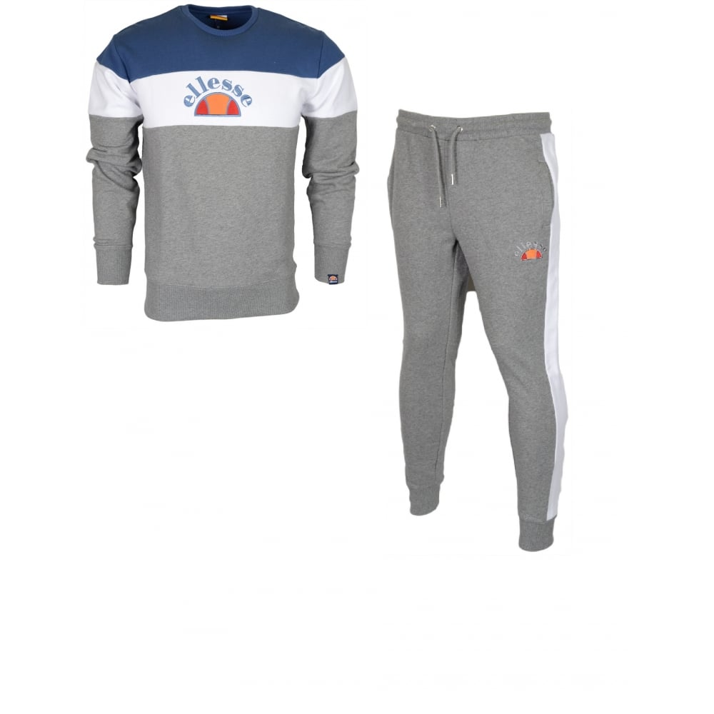 Activewear Tops Clothing, Shoes & Accessories Ellesse Mennea Pietro Cotton Round Neck Navy Tracksuit Buy One Give One