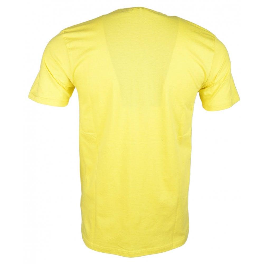 13122c08 Ellesse Prado Tee Light Yellow Cotton T-Shirt