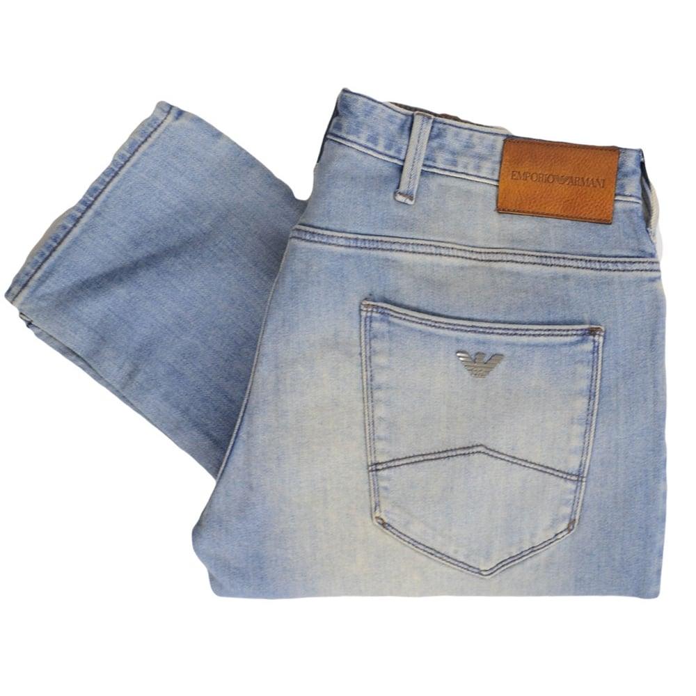 3f81e5da1 Emporio Armani 3Z1J06 Slim Fit Light Wash Denim Blue Jeans