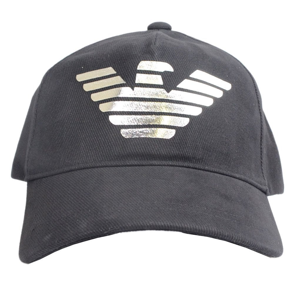 f932d445 Emporio Armani Canvas Black BaseBall Cap - Accessories from N22 ...