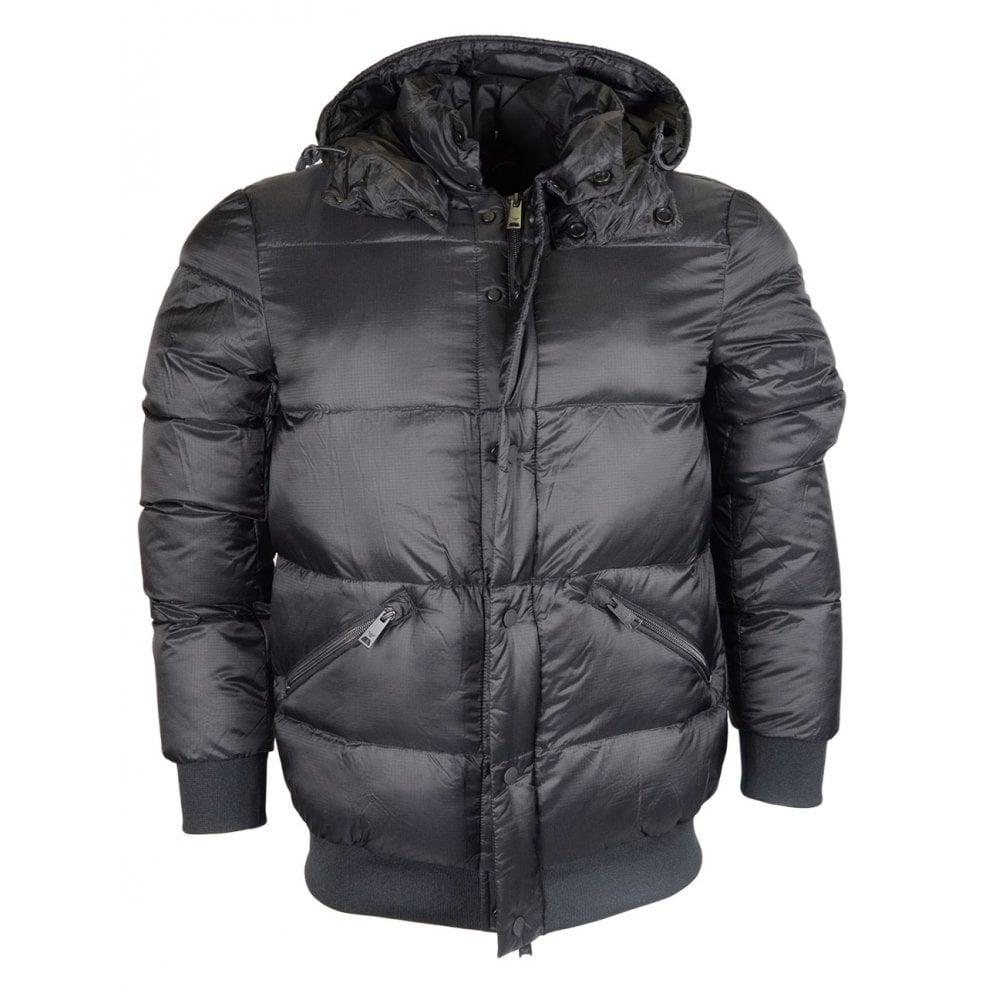 c51105b3 Emporio Armani Down Puffer Zip Up Black Jacket