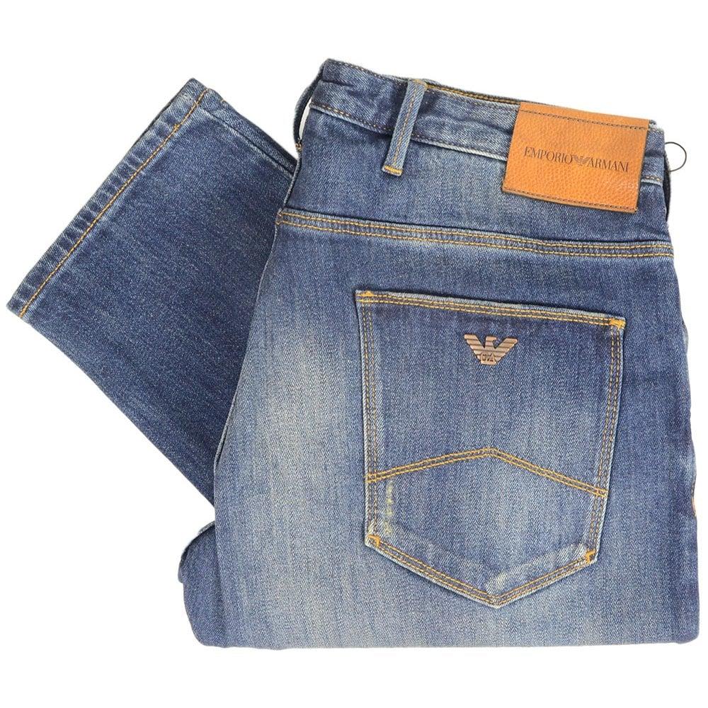 b2cf53fdb5bd9 Emporio Armani J06 Slim Fit Mid Wash Denim Jeans - Clothing from N22 ...