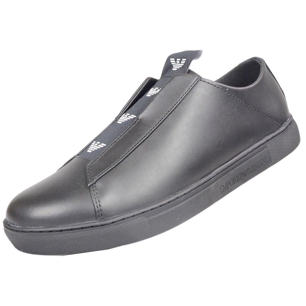 Emporio Armani Slip On Leather Black