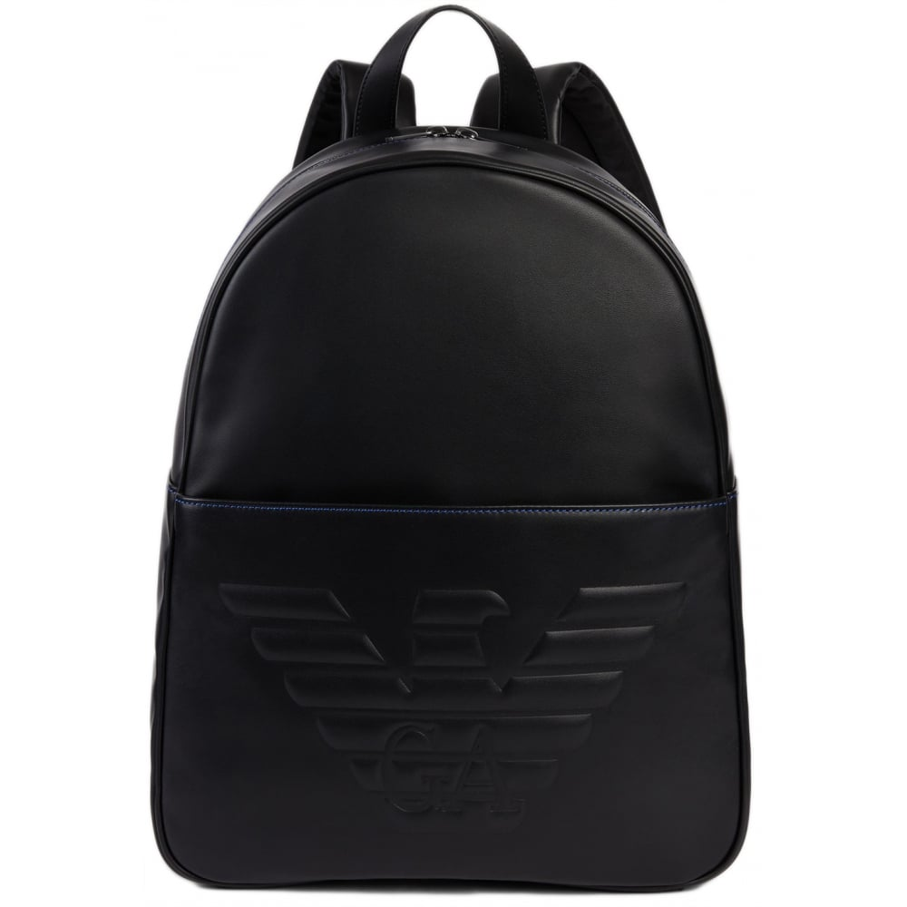44118d618933 Emporio Armani Y40163 YG90J Faux Leather Rucksack - Accessories from ...