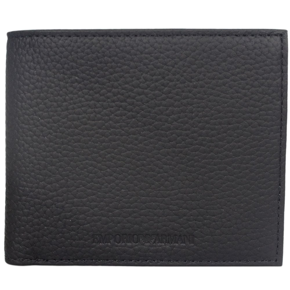 ec8db28dca Emporio Armani Y4R167 Emporio Branded Leather Bifold Black Wallet