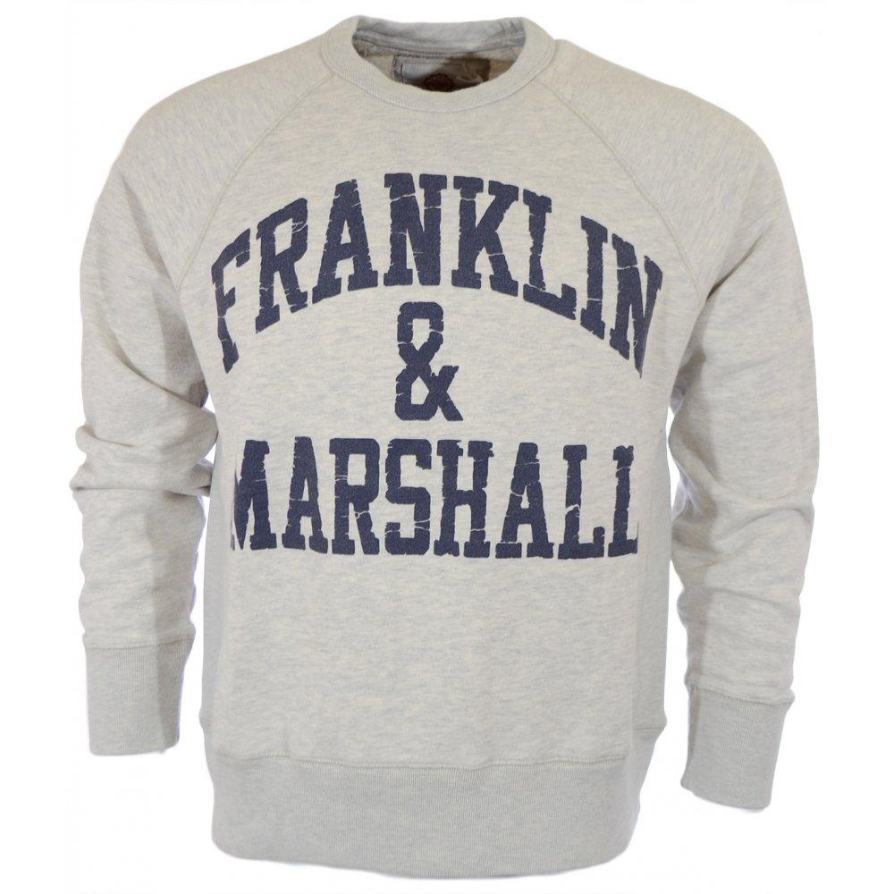 1dec63f7f38 Franklin & Marshall Cracked Print Original Grey Sweatshirt