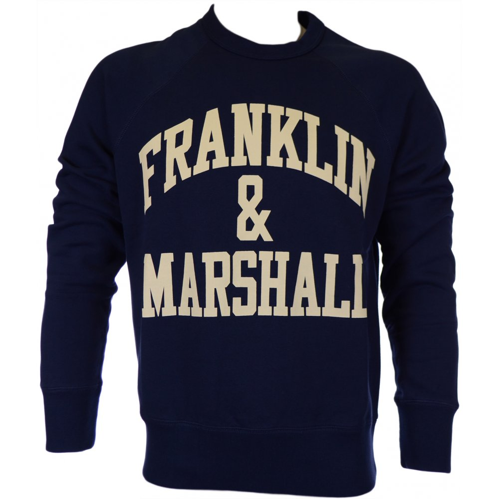 Franklin   Marshall Crew Neck Arch Logo Navy Jumper - Clothing from ... da9a728174f