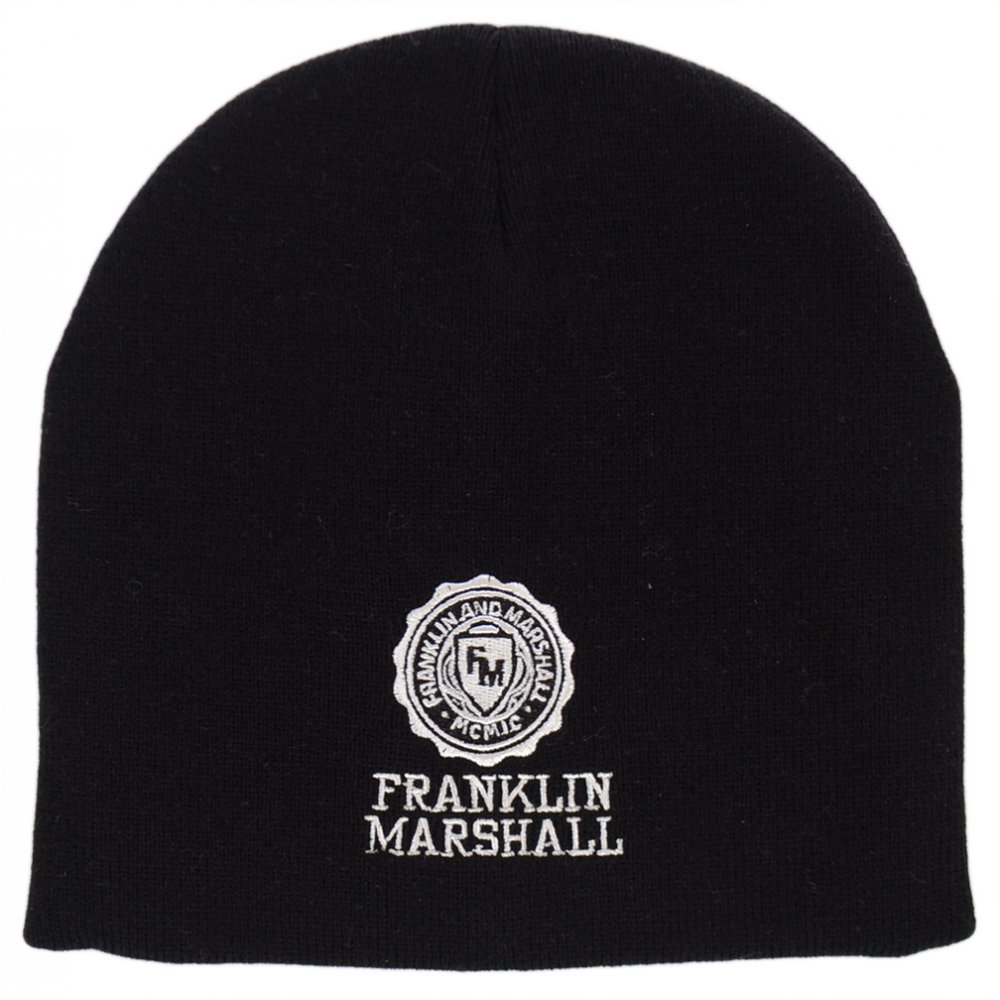 Franklin   Marshall Embroidered Black Beanie Hat - Accessories from ... cccaa21e5e0