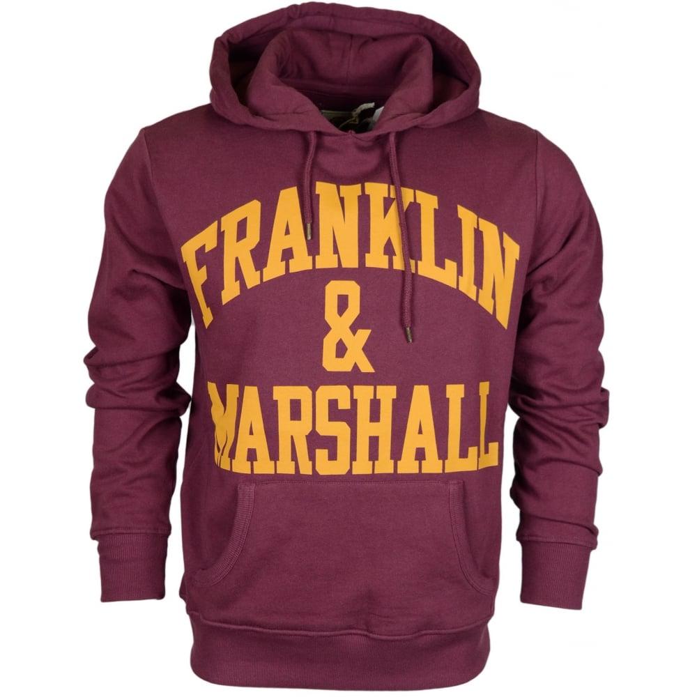 190ce33c673 Franklin & Marshall MF435 Printed Arch Logo Vintage Port Hoodie