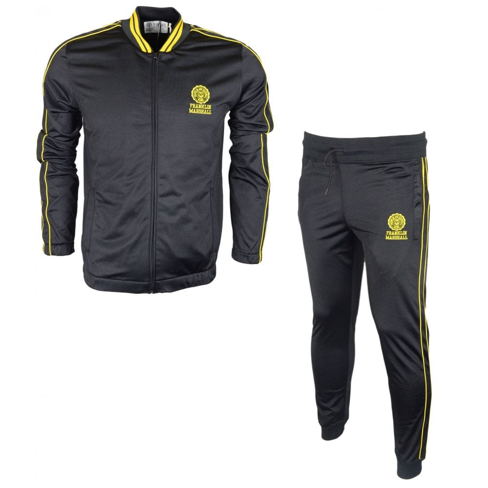 wholesale online detailing retail prices Franklin & Marshall Tutu Zip Up Slim Fit Black/Yellow Tracksuit