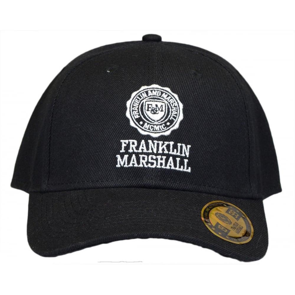 Franklin   Marshall UA901 Unisex Black Baseball Cap - Accessories ... bcd4e45ff211