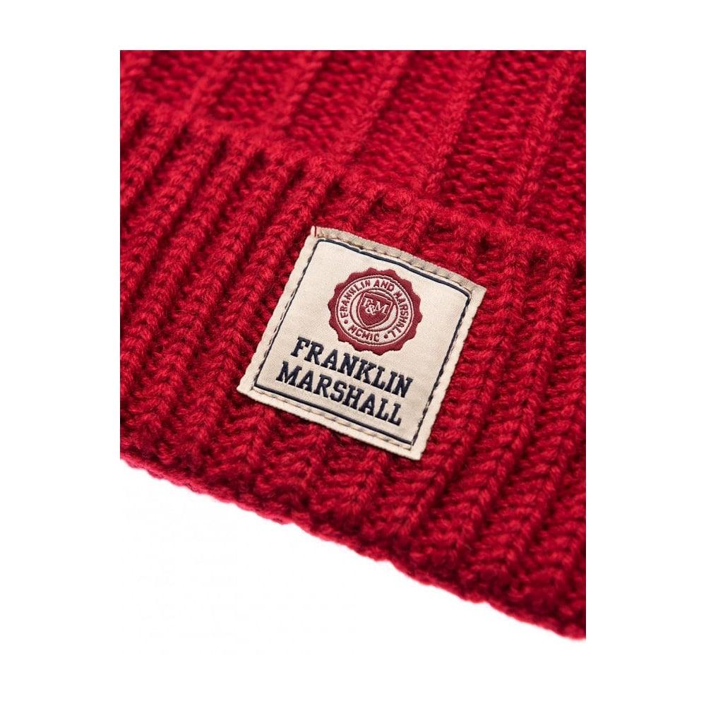 8d3bdfcbe Franklin & Marshall UA904 Ribbed Patrol Red Beanie Hat